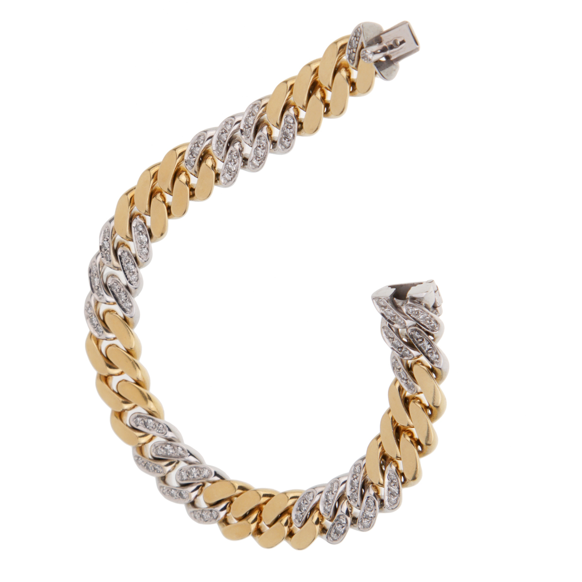 Pomellato Curb Diamond Yellow Gold Bracelet - Pomellato Jewelry