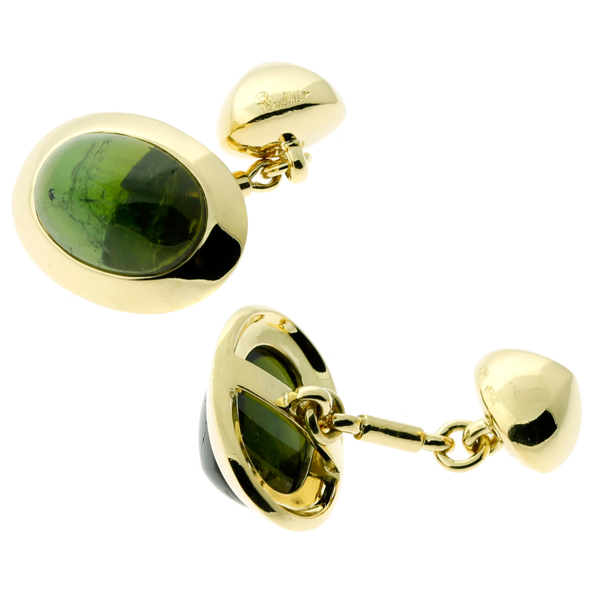 Pomellato Green Tourmaline Gold Cufflinks - Pomellato Jewelry