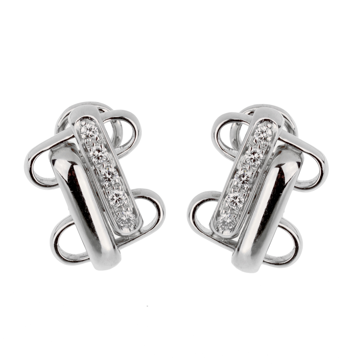 Pomellato Diamond White Gold Earrings - Pomellato Jewelry