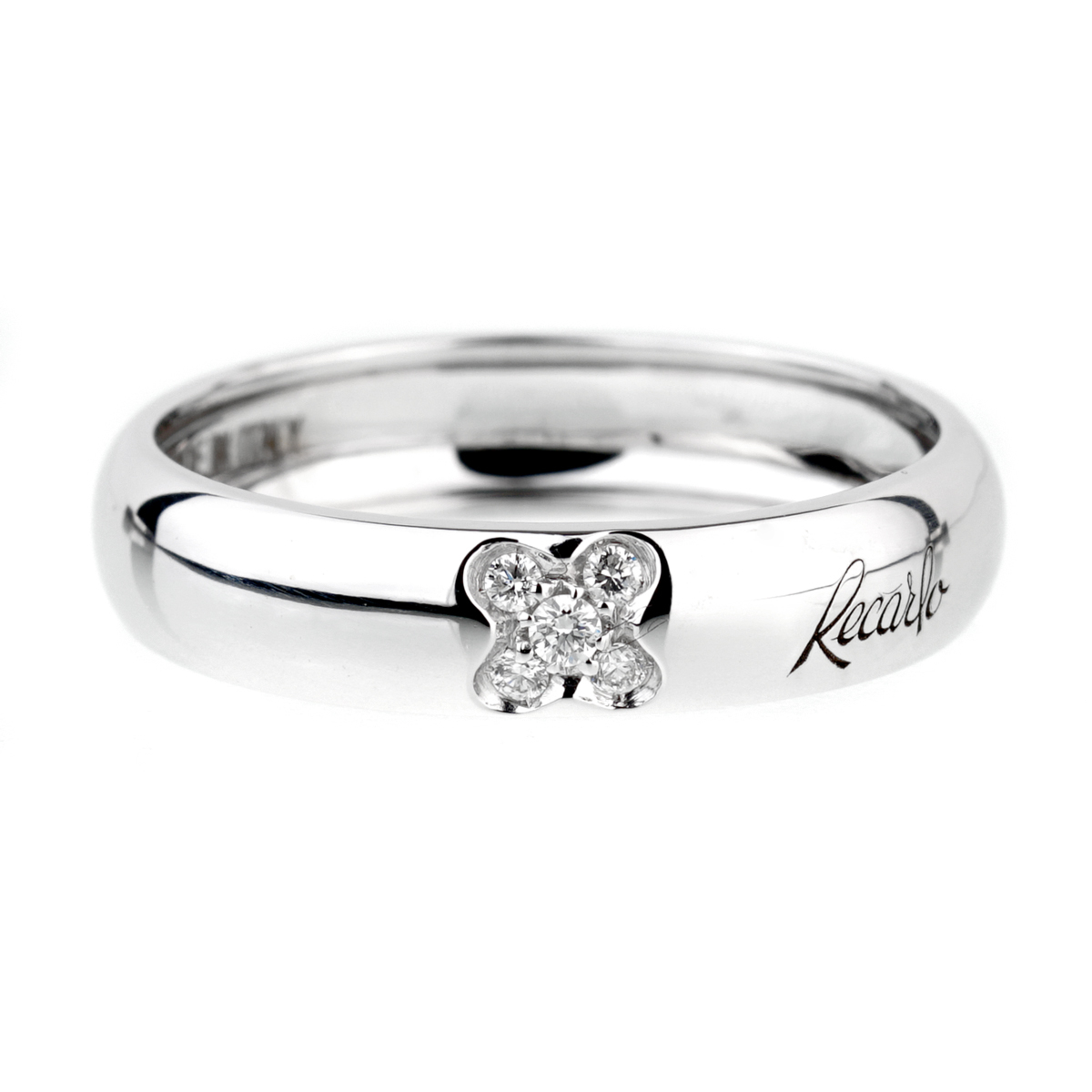 Recarlo Clover Diamond White Gold Ring - Recarlo Jewelry
