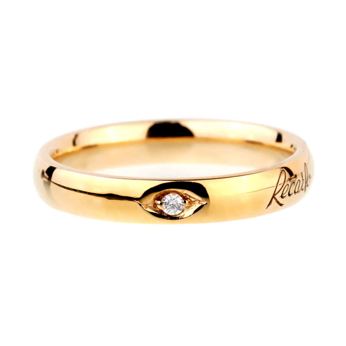 Recarlo Diamond Yellow Gold Band Ring - Recarlo Jewelry