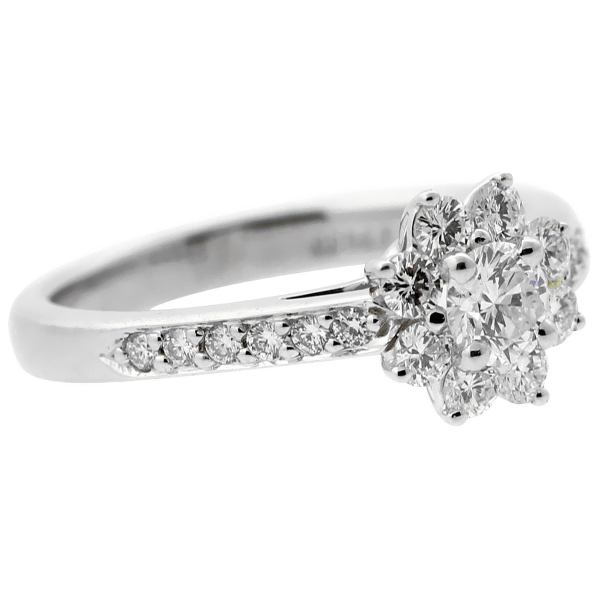 Tiffany & Co Diamond Platinum Flower Ring - Tiffany and Co Jewelry