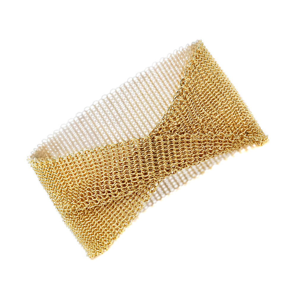 Tiffany & Co Gold Mesh Bracelet - Tiffany and Co Jewelry