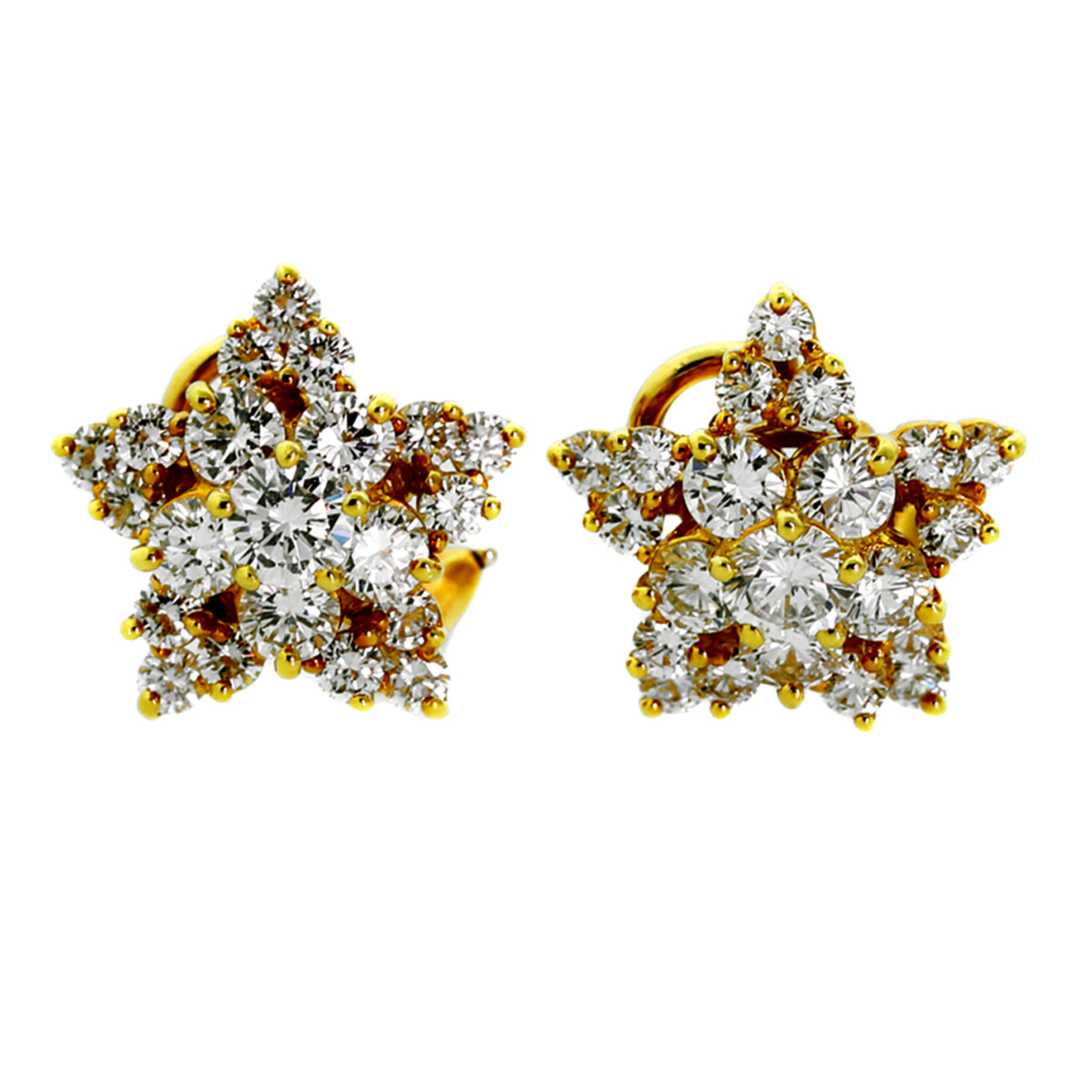 Tiffany & Co Star Diamond Gold Earrings - Tiffany and Co Jewelry