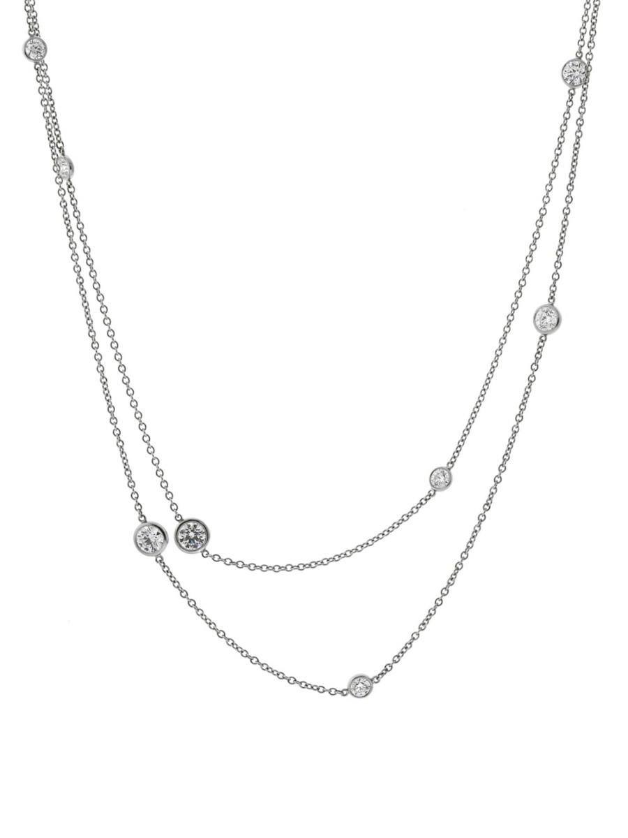 Tiffany & Co Diamonds by the Yard Platinum Necklace - Tiffany and Co Jewelry
