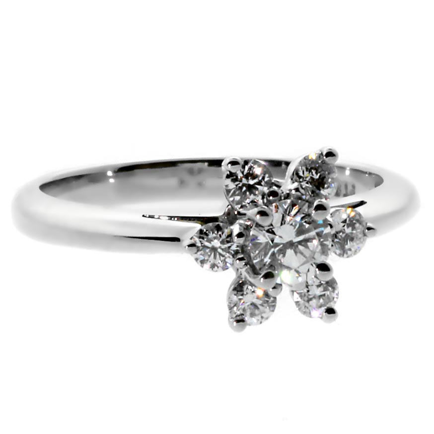Tiffany & Co Flower Diamond Platinum Ring - Tiffany and Co Jewelry