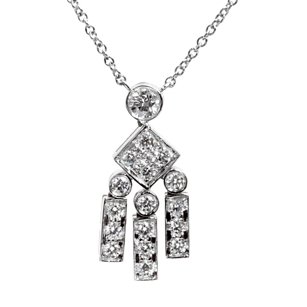 Tiffany & Co Legacy Diamond Platinum Necklace - Tiffany and Co Jewelry