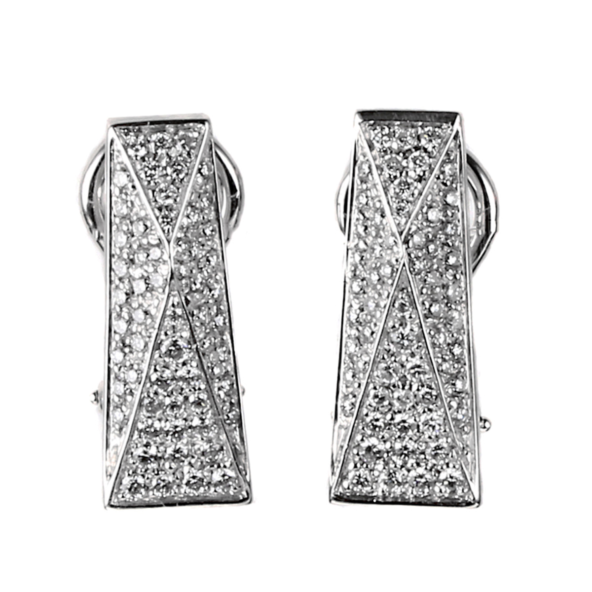 Versace Pave Diamond White Gold Earrings - Versace Jewelry