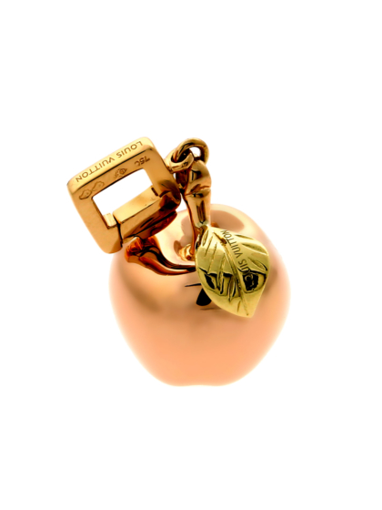 Louis Vuitton Gold Apple Charm Pendant