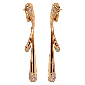 Audemars Piguet Diamond Rose Gold Drop Earrings