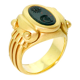 Barry Kieselstein Cord Gold Bloodstone Ring