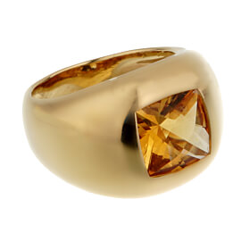 Boucheron Citrine Yellow Gold Cocktail Ring