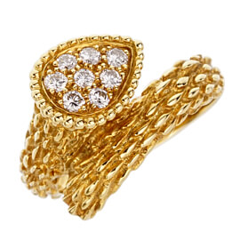 Boucheron Serpent Boheme Yellow Gold Diamond Ring