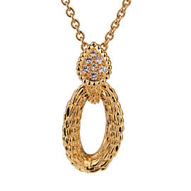Boucheron Serpent Boheme Diamond Gold Necklace