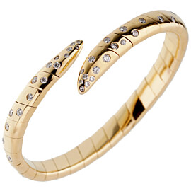 Boucheron Vintage Yellow Gold Diamond Cuff Bracelet