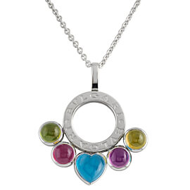 Bulgari Allegra White Gold Gemstone Necklace