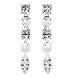 Bulgari Lucea Diamond White Gold Earrings