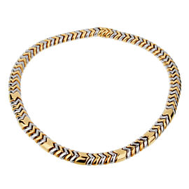 Bulgari Spiga White Yellow Gold Necklace