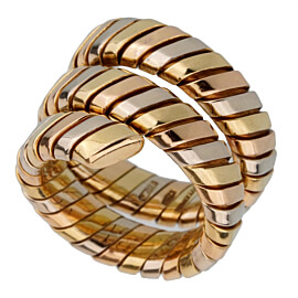 Bulgari Tubogas Tricolor Gold Ring