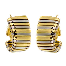 Bulgari Tubogas Yellow White Gold Earrings