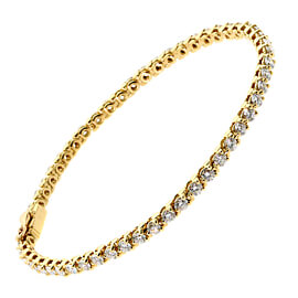 Cartier Diamond Tennis Gold Bracelet