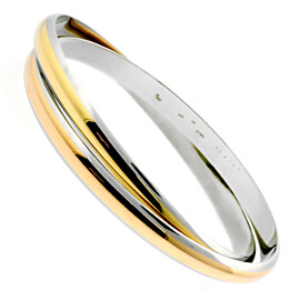Cartier Interlocking Gold Stainless Bangle