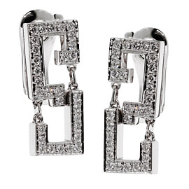 Cartier Le Baiser Du Dragon Diamond White Gold Earrings