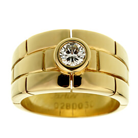 Cartier Panthere Solitaire Yellow Gold Band Ring