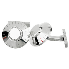 Cartier Safe Lock Combination White Gold Cufflinks