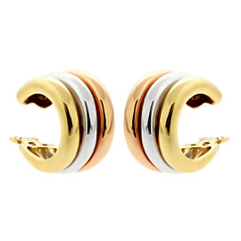 Cartier Trinity Tri Color 18k Gold Hoop Earrings