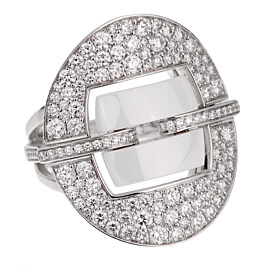 Chanel Ultra Diamond White Gold Ceramic Ring