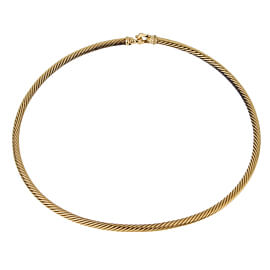 David Yurman Gold Twisted Cable Gold Choker Necklace