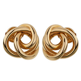 De Grisogono Love Knot Rose Gold Stud Earrings