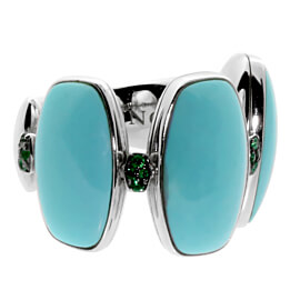 De Grisogono Turquoise White Gold Ring