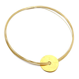 Dinh Van Disc Pendant Yellow Gold Choker Necklace