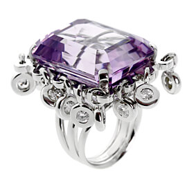 Dior Amethyst Diamond Cocktail Ring
