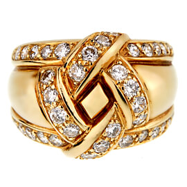 Dior Vintage Diamond Gold Cocktail Ring