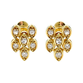 Dior Diamond Gold Earrings