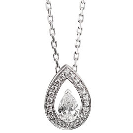 Fred of Paris .78ct Lovelight White Gold Diamond Necklace