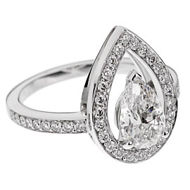Fred of Paris Lovelight 1.48ct Pear Diamond Engagement Ring