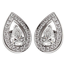 Fred of Paris Lovelight Pear Shaped Diamond Stud Earrings