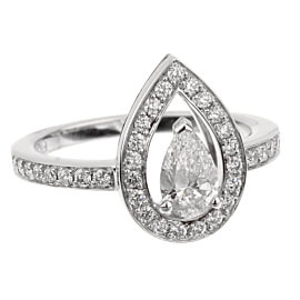 Fred of Paris Lovelight Pear Shaped .65ct Diamond Engagement Ring