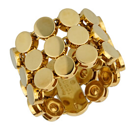 Gucci Yellow Gold Triple Row Dot Ring