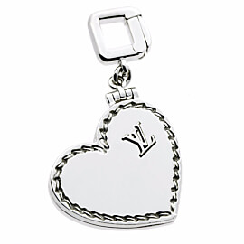 Louis Vuitton Heart Locket Charm White Gold Pendant