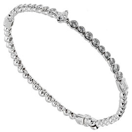 Louis Vuitton High Jewelry Diamond White Gold Tennis Bracelet