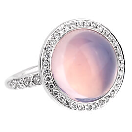 Mimi Milano Lavender Moonstone White Gold Diamond Ring