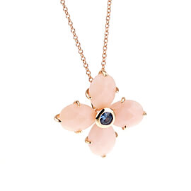 Mimi Milano Pink Opal Sapphire Rose Gold Necklace