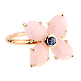 Mimi Milano Rose Gold Pink Opal Sapphire Ring