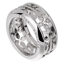 Patek Philippe Calatrava Diamond White Gold Ring