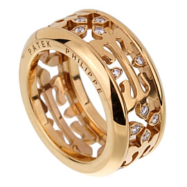 Patek Philippe Calatrava Diamond Rose Gold Ring